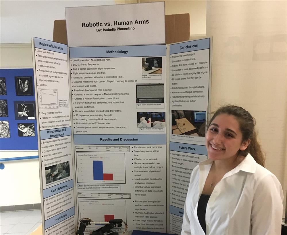 Piacentino Earns 1st at Tri-County Science Fair